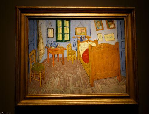 งานแสดงภาพ The Bedroom ของแวนโก๊ะ ที่ The Art Institute of Chicago